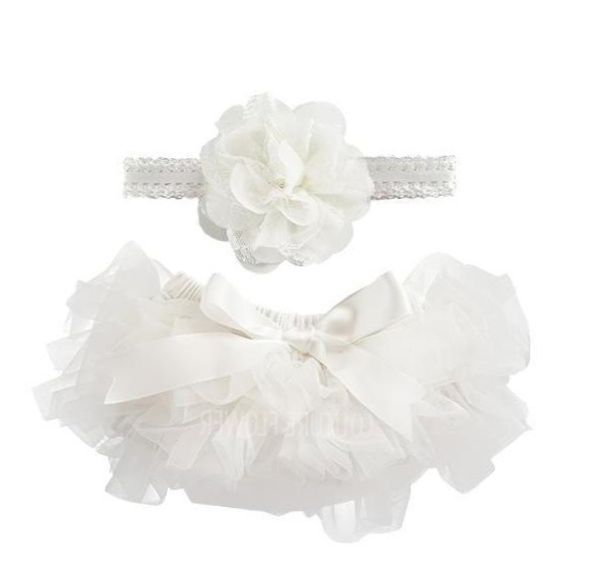 Off White Tutu with Headbands