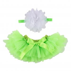 Lime Green Tutu with Headband
