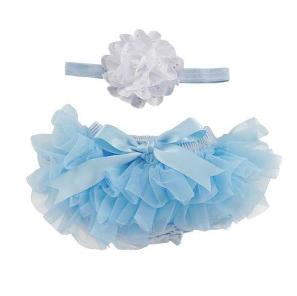 Light Blue Tutu with Headband